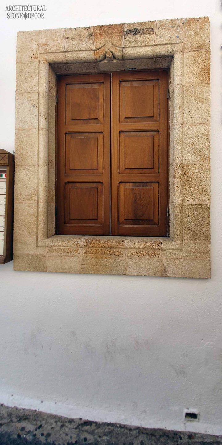 Mediterranean style old town Rhodes natural stone window surround architecture home interior design ca BC canada